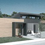 Modelo de casa de dos dormitorios moderna