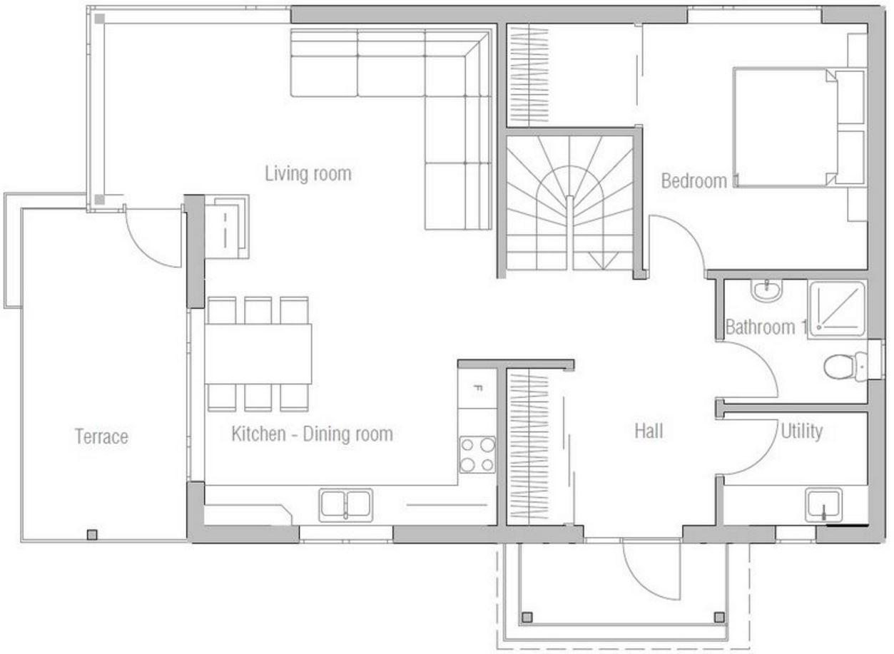 planos de viviendas de 3 dormitorios