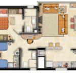 Plano de casa para terreno de 100 metros cuadrados