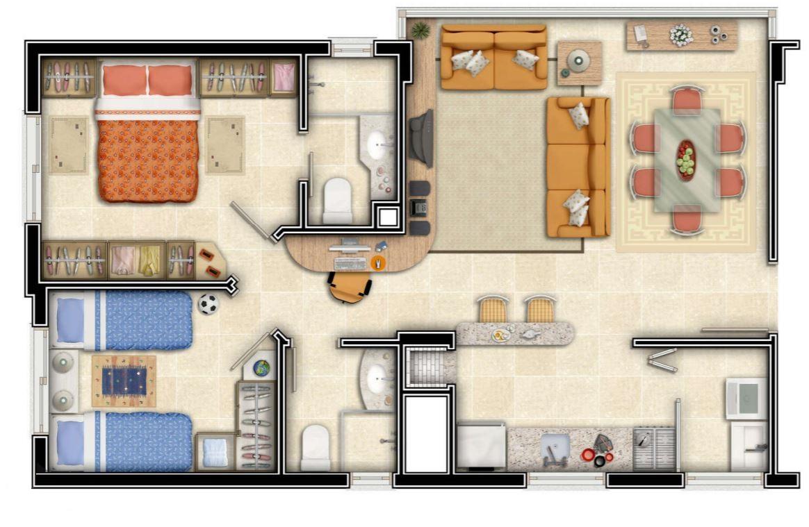 dise o interior casa de 100 metros y cuatro dormitorios