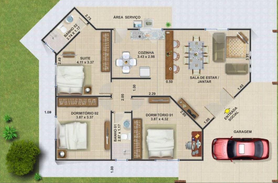 Casas baratas para construir for Modelos planos de casas para construir