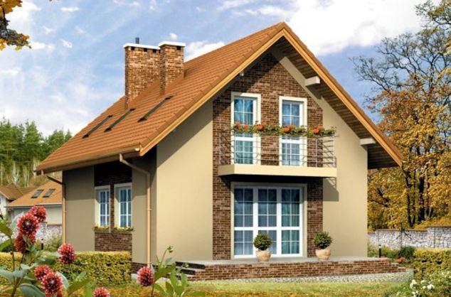 Casas de dos pisos con techo de dos aguas for Tipos de tejados de casas