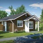 Plano de una casa pequeña y sencilla