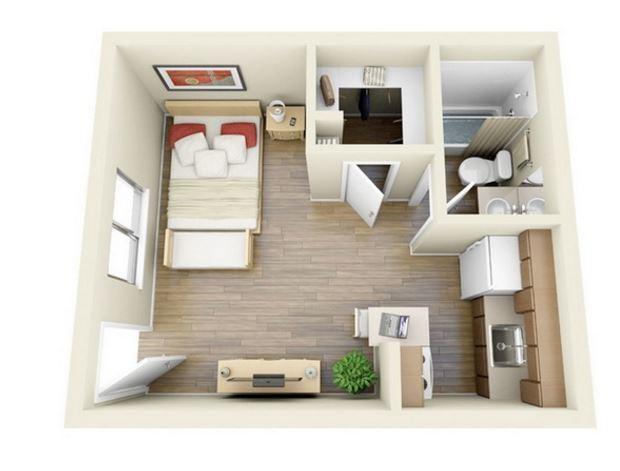 35 dise os de apartamentos peque os for Diseno de apartamentos pequenos modernos