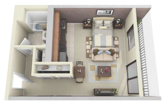 Planos de apartamentos modernos for Diseno de apartamento de soltero