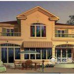 Casa con 2 balcones y 2 plantas
