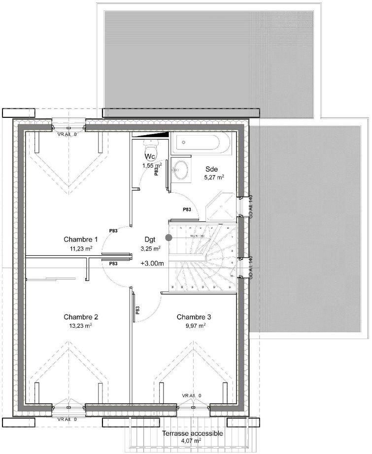 casa de 100 metros cuadrados dos pisos