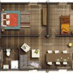 Casa confortable de 2 dormitorios
