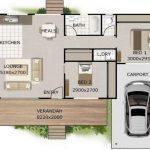 Casa elevada con deck frontal