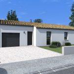 Plano de casas con 3 dormitorios y garaje