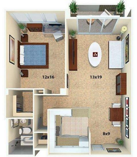 Planos de departamentos peque os cuadrados for Monolocale dwg