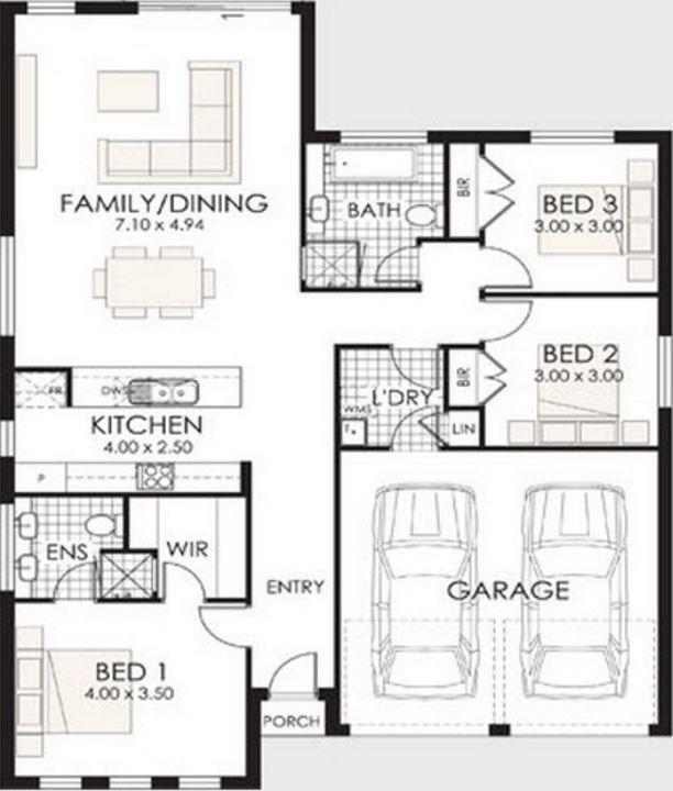 Planos y casas planos de casas plantas arquitect nicas - Planos de casas de 100 metros cuadrados ...