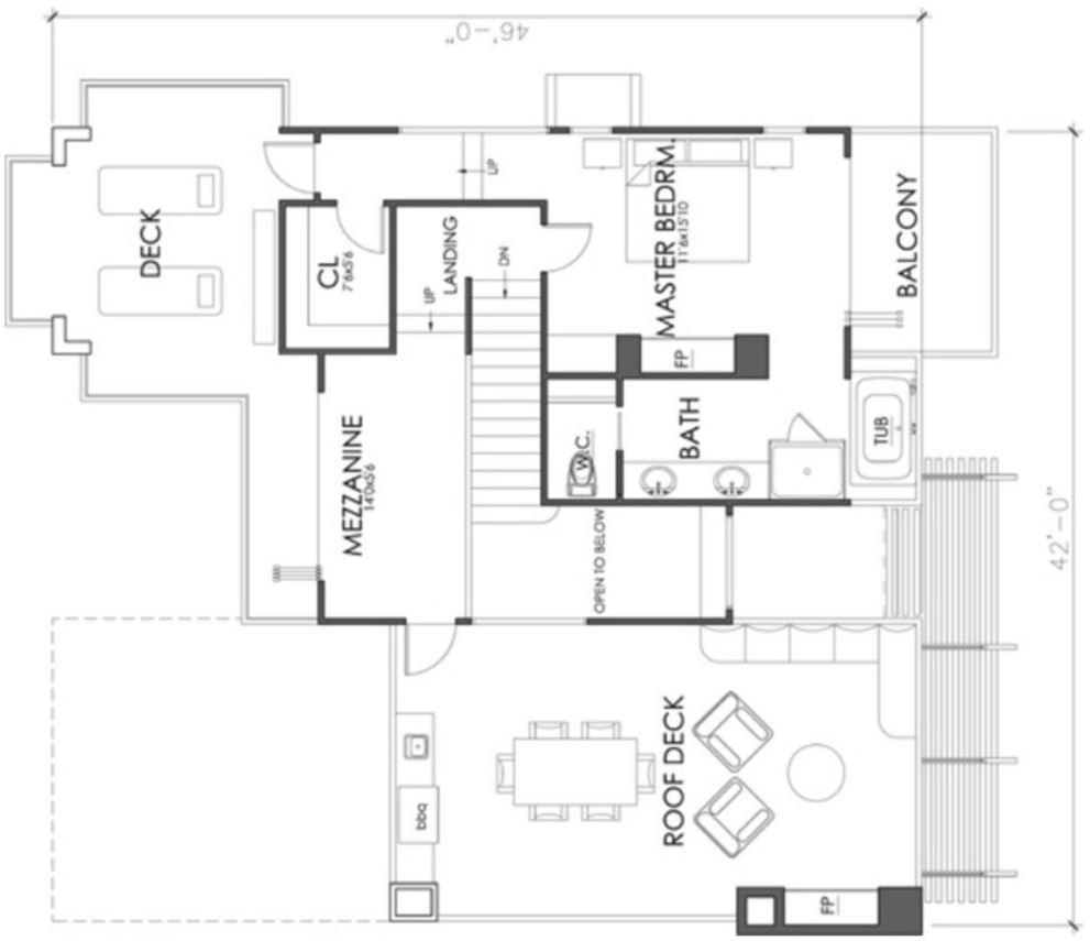 Plano de casa moderna con 3 dormitorios y garaje doble for Casas con planos y fotos