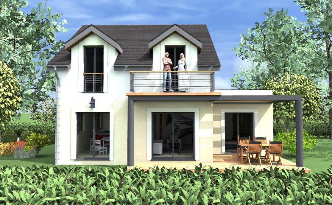 Casa de 100 metros cuadrados dos pisos for Casas modernas 120 metros cuadrados