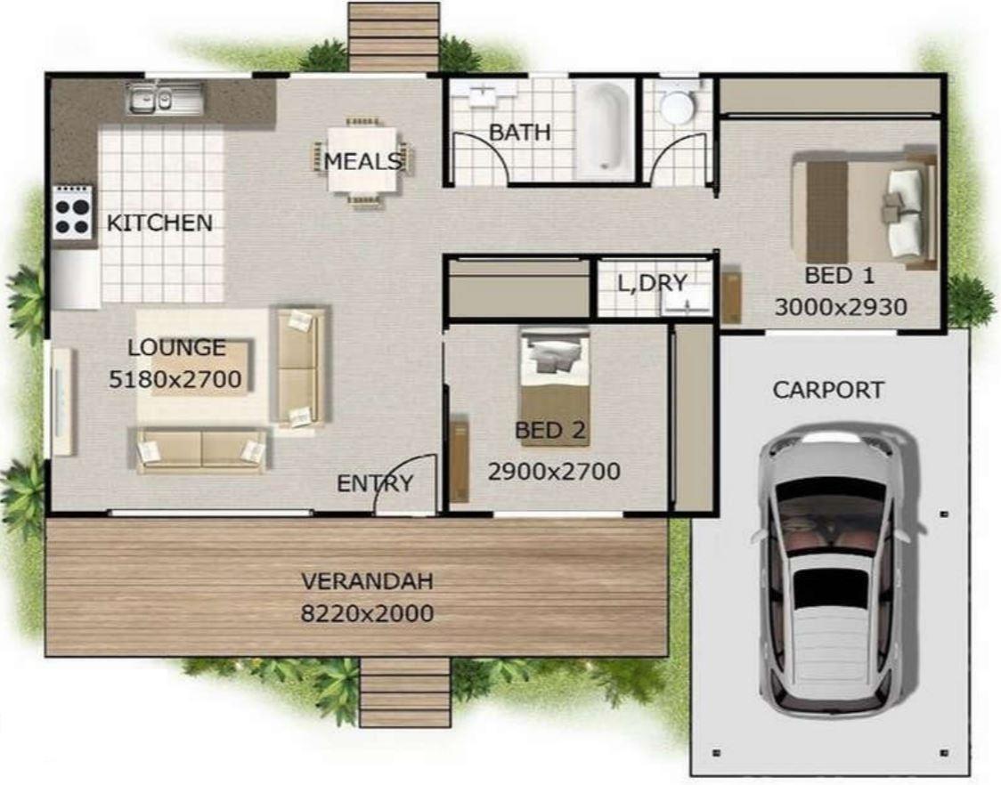 16 planos de casas modernas con cochera Planos interiores de casas modernas