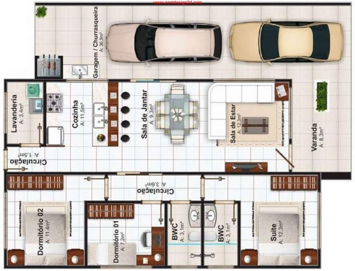planos de casas modernas con cochera