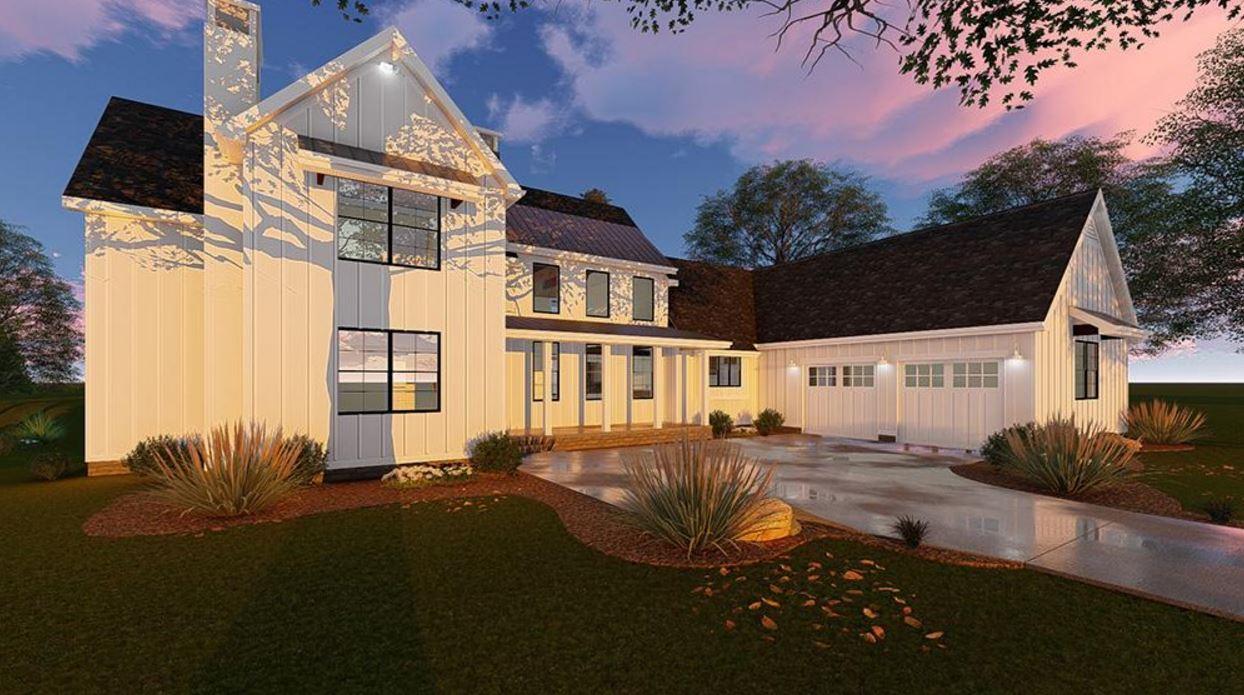 plano de casa de madera de 2 pisos