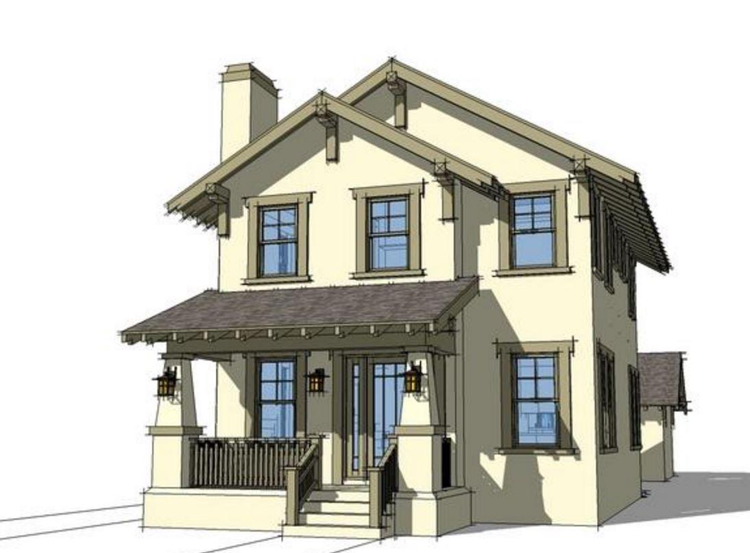 modelo de casa de dos pisos con garage