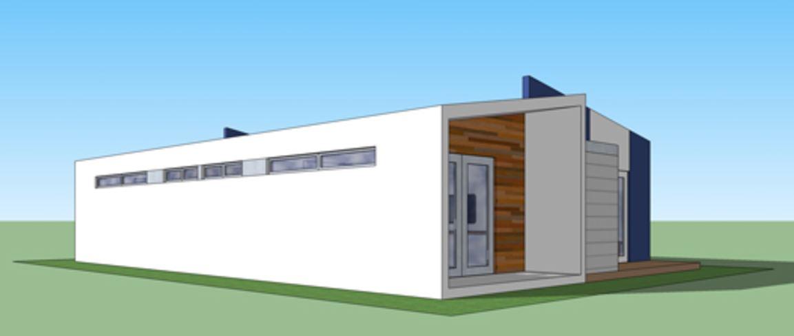 Casa moderna de 90 metros cuadrados for Casa moderna 50 metros cuadrados