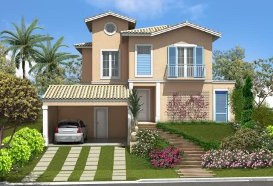 Fachadas de casas bonitas for Casas modernas planos y fachadas