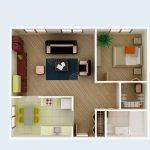 Modelos de departamentos cómodos pequeños