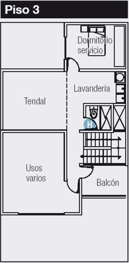 Plano de casa de 120 m2 for Disenos de casas 120 m2