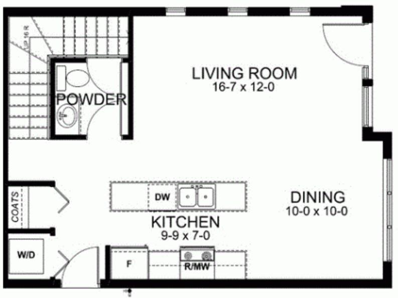 Plano de duplex economico - Planos de casas de 100 metros cuadrados ...