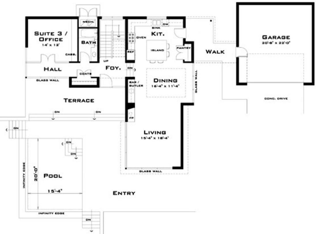 Planos de casas modernas for Planos de piscinas temperadas