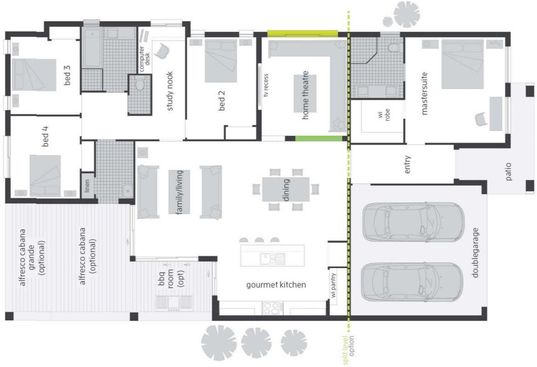 Dise os de viviendas planta baja 4 dormitorios casa dise o for Diseno casa planta baja