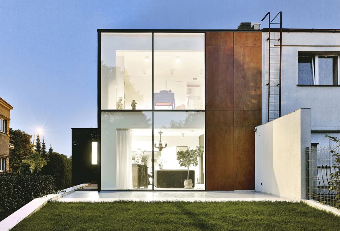Fachadas de acero corten el horizontal de las carpinteras - Acero corten fachadas ...