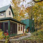 Pequeña casa minimalista de 2 pisos