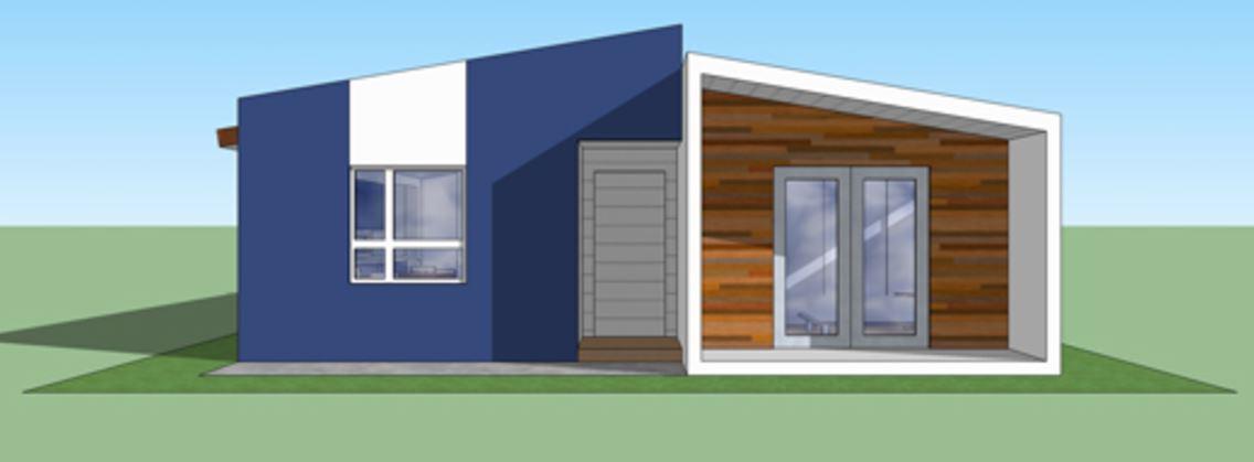 Casa moderna de 90 metros cuadrados for Casa moderna 90m2