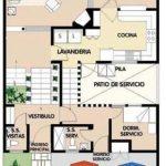 Plano de casa de 10×15 metros en 2 pisos