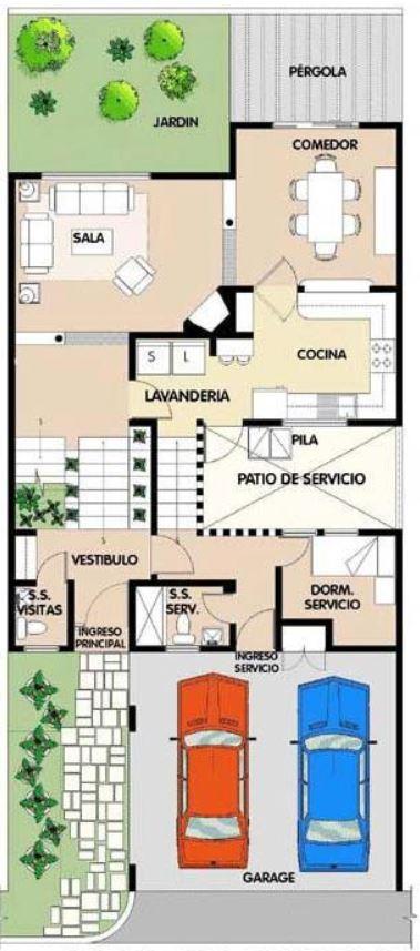 planos de casas de dos pisos de 10×15