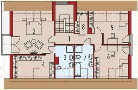 Casas modernas de 3 dormitorios for Modelos de casas con techo de chapa