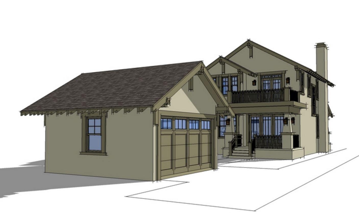 Planos de casas con cochera para dos carros for Modelos de chalets de una planta