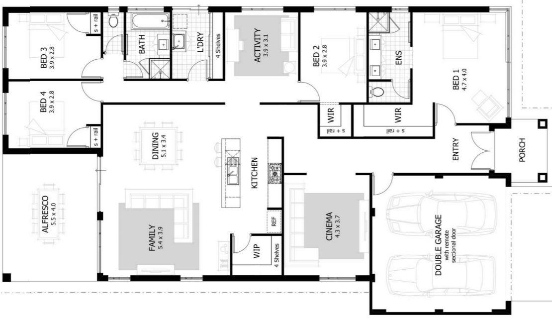 4 dormitorios for Casas en ele planos