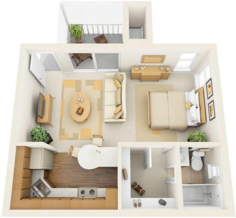 Modelos De Departamentos Para Construir ~ Cocinas Pequeñas Para Apartamentos