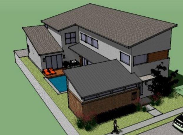 Modelo de casas de dos pisos modernas for Diseno vivienda