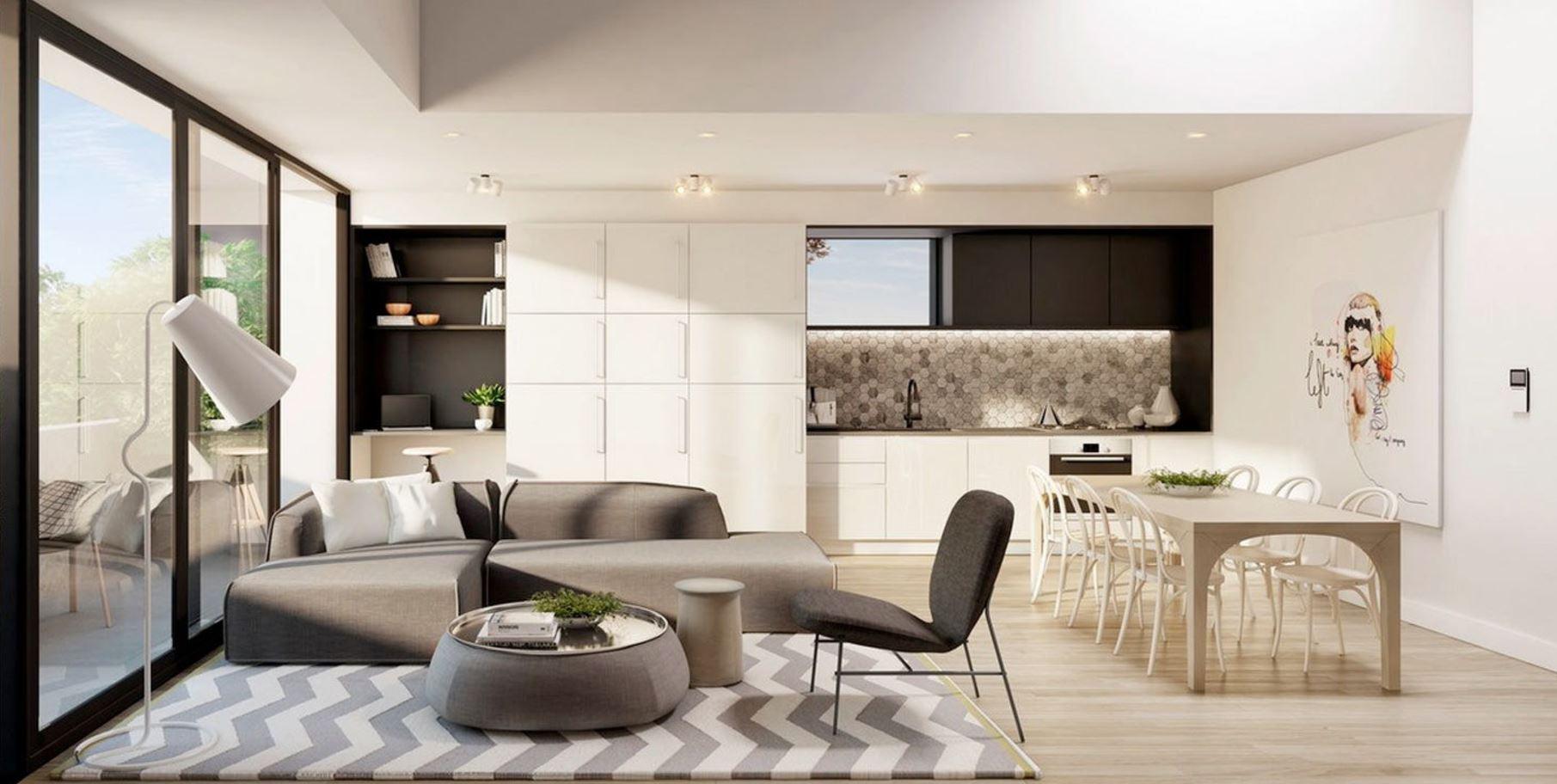 Concepto abierto cocina comedor y sala for Modelo de cocina abierta en el comedor