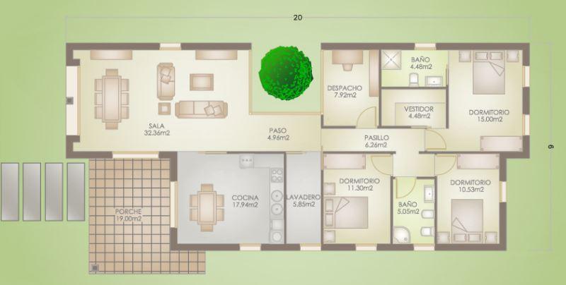 Planos y casas planos de casas plantas arquitect nicas fachadas de viviendas de 1 y 2 pisos - Planos de casas de campo rusticas ...