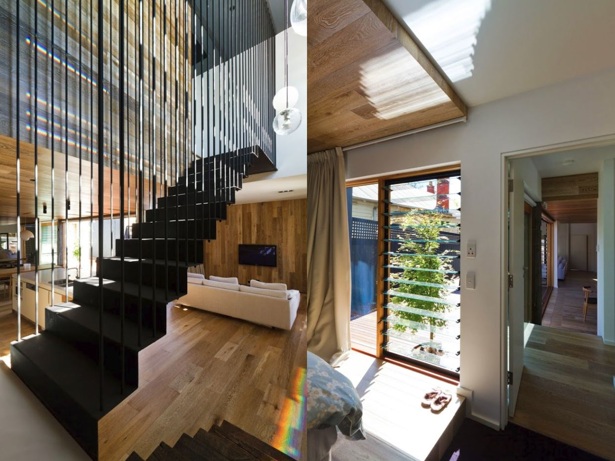 Casa de madera y cemento barata - Paredes de cemento ...