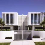 Plano de vivienda unifamiliar adosada
