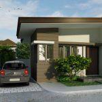 Plano de casa moderna de 1 dormitorio