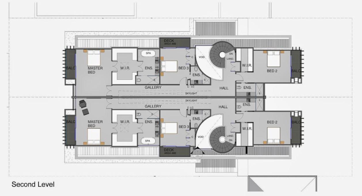 casas gemelas arquitectura