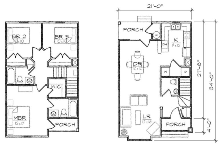 planos de casas de 6 por 10 metros