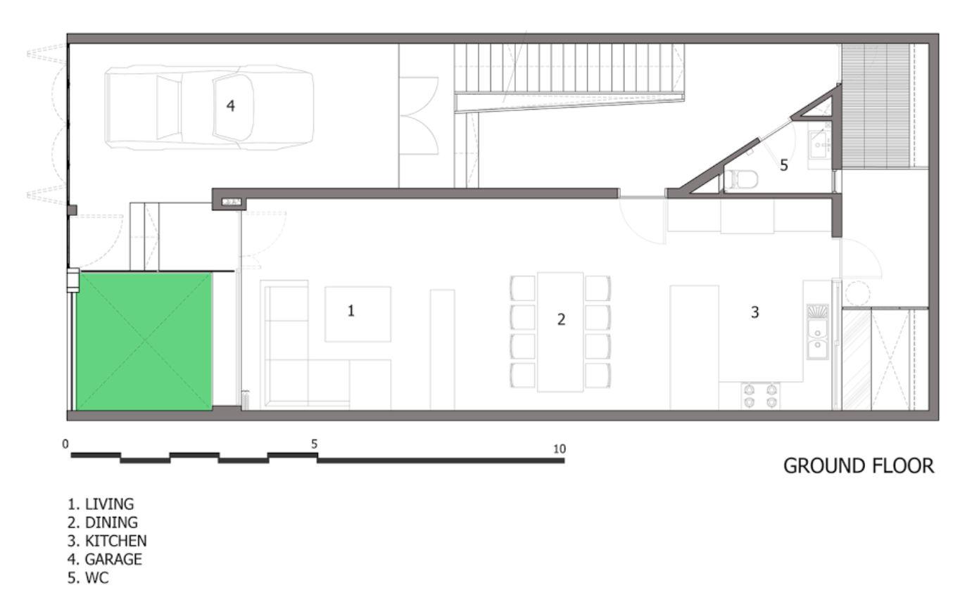Dise o de casas en terrenos angostos y largos for Casas estrechas y alargadas