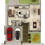 5 casas pequeñas de dos pisos