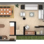 Casas duplex en 3d