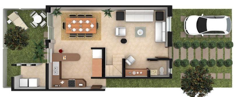 Planos y casas planos de casas plantas arquitect nicas for Diseno apartamentos duplex pequenos